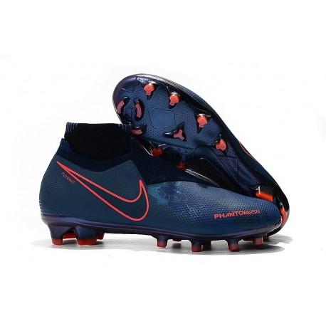 Nouvelles Chaussures de Football Nike Phantom VSN Elite DF FG Fully Charged Bleu