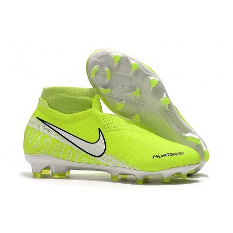 Nike Phantom Vision Elite FG Crampons Volt Blanc