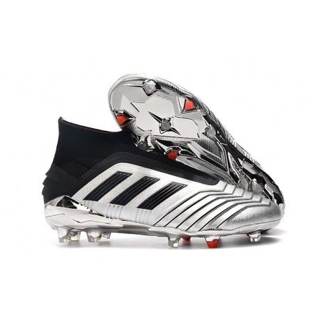 Chaussures de Football adidas Predator 19+ FG Argent Noir