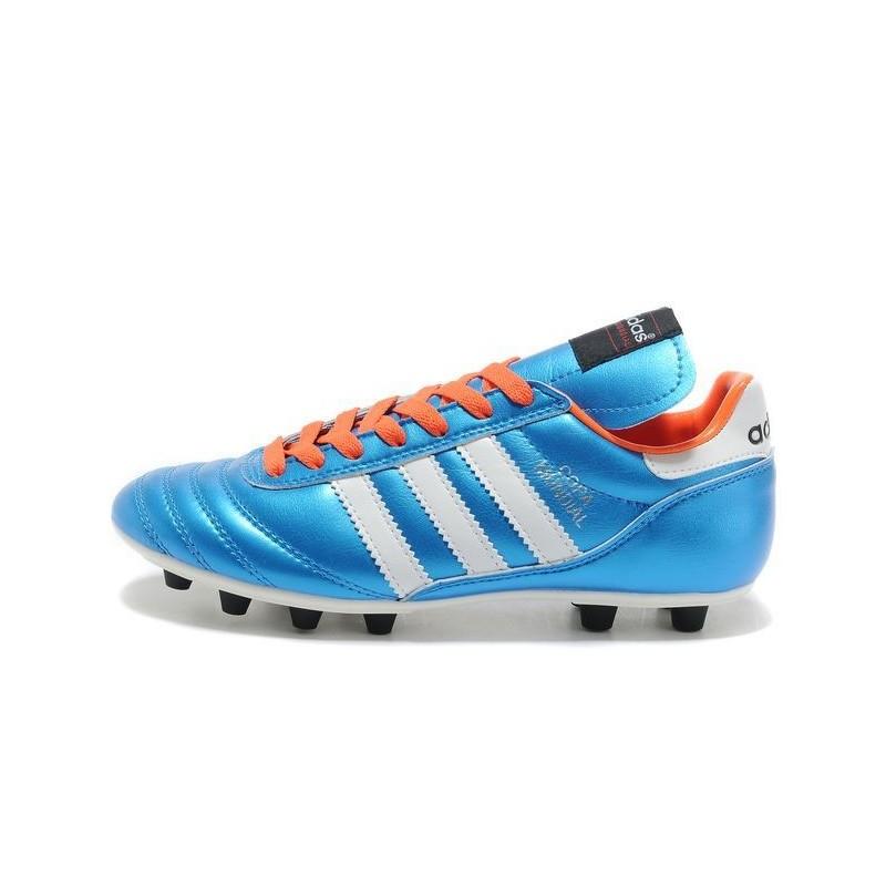 official photos 91e2a c3644 2015 Chaussures Football Copa Mundial Adidas Crampons Bleu Orange Blanc