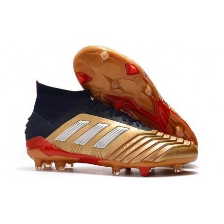 Nouveau Chaussures De Football Adidas Predator 19.1 FG Or