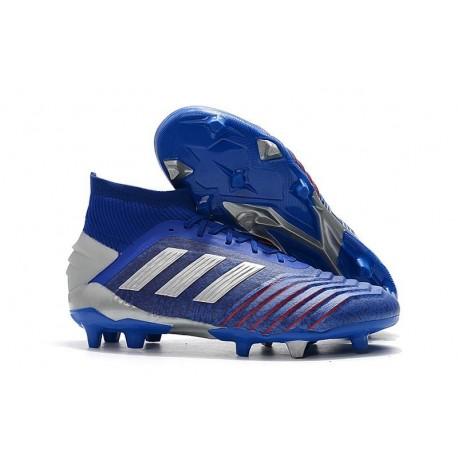 Nouveau Chaussures De Football Adidas Predator 19.1 FG Bleu