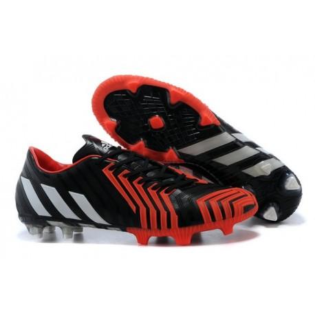 Chaussures Adidas Predator Instinct FG Pas Cher Noir Blanc Rouge