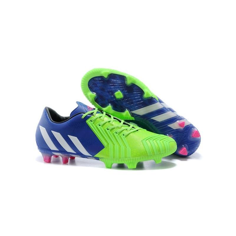 Nouveau Chaussures Adidas Predator Instinct FG Battle Pack Bleu Blanc Vert Zoom. Précédent. Suivant