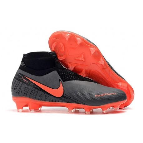 Nike Phantom Vision Elite FG Crampons Noir Rouge