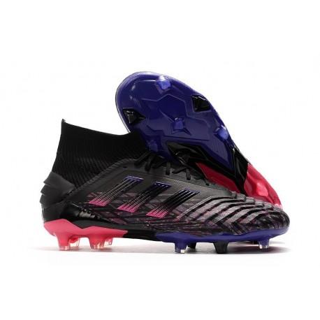 Chaussure Nouveaux adidas Predator 19+ FG Noir Rose Bleu