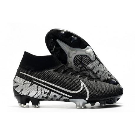 Nike Crampons Football Mercurial Superfly 7 Elite SE FG Noir Gris Métallique