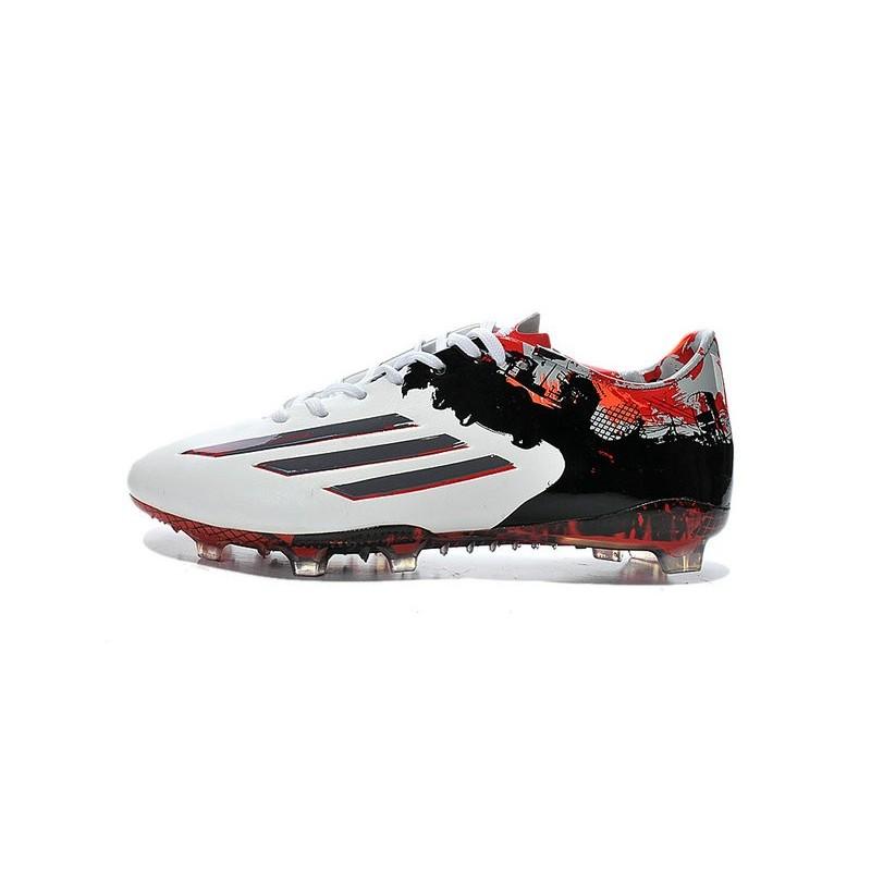 newest 9b84c 0ee30 Nouvelle Chaussure de Foot F50 Messi Adizero Trx FG Pibe De Barr 10 10.1  Rouge Blanc Noir