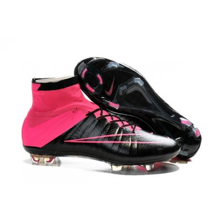 promo code b8b13 415e7 Nouvelles Chaussures Pas Cher Nike Mercurial Superfly FG - Noir  Hyper Rose