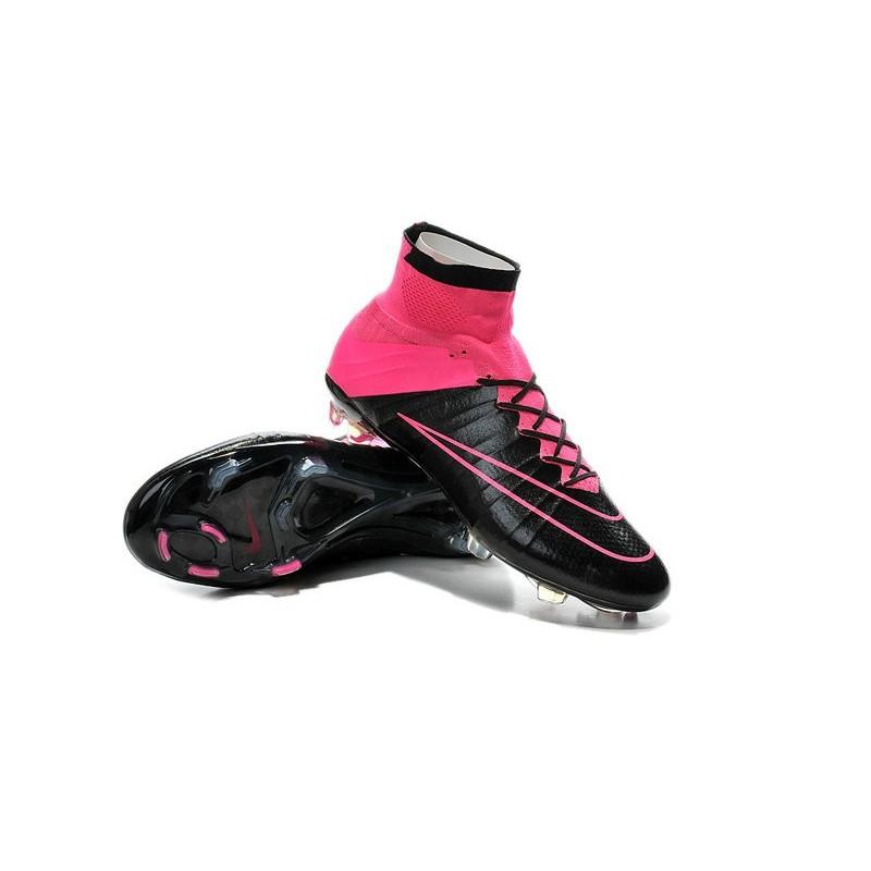 promo code 6676e 3ecf9 Nouvelles Chaussures Pas Cher Nike Mercurial Superfly FG - Noir  Hyper Rose