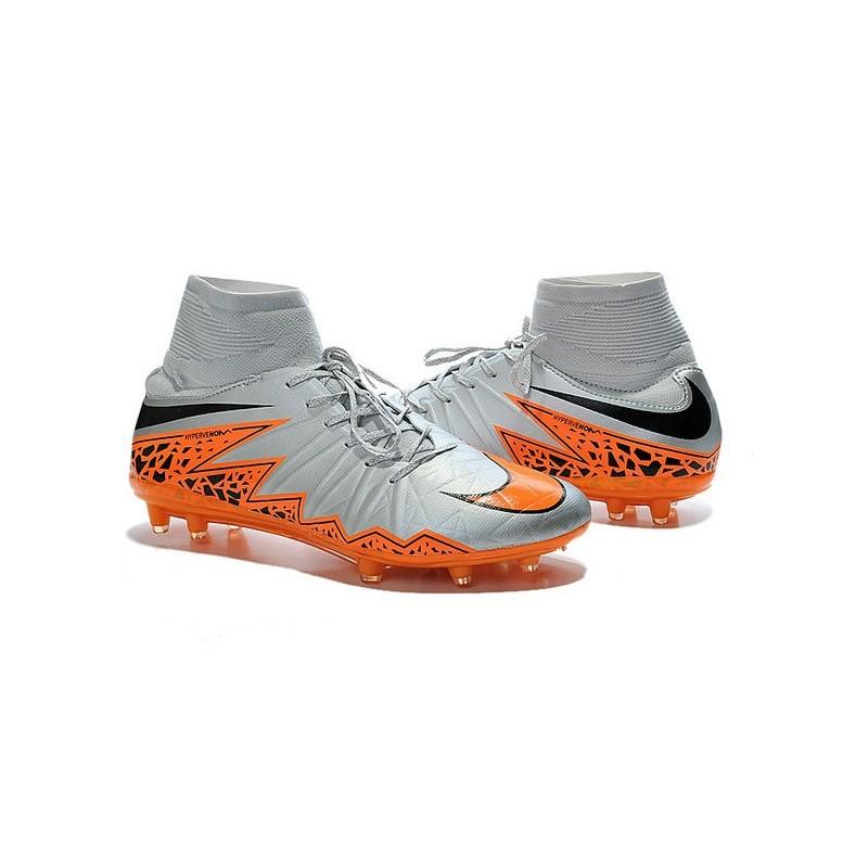 Fg Chaussures Hypervenom Noir Orange Gris Hommes Phantom 2 Nike Loup gvb76Yfy