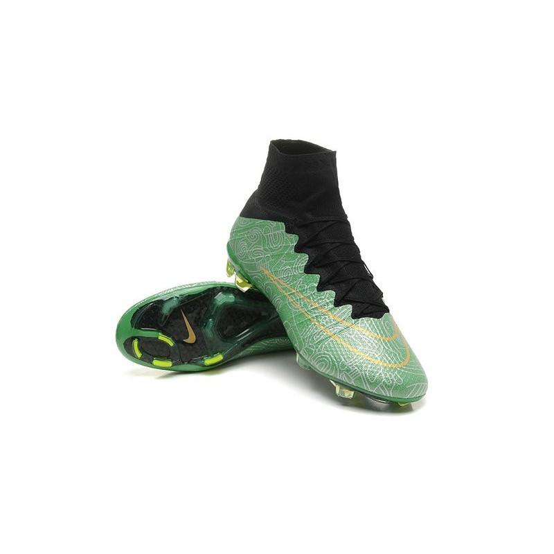 2015 chaussures de football nike mercurial superfly fg vert noir. Black Bedroom Furniture Sets. Home Design Ideas