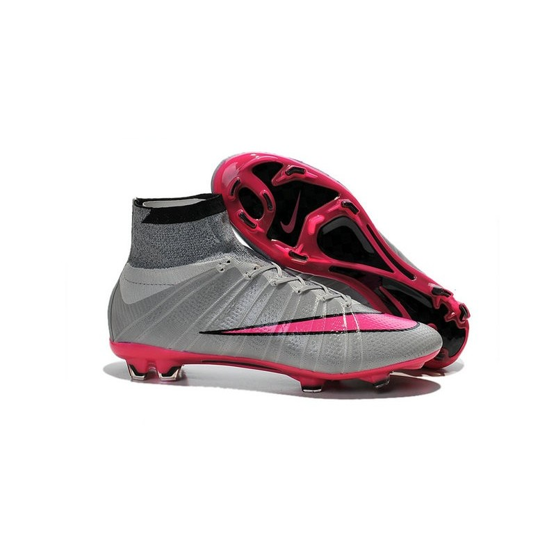 uk availability 90992 125ae Chaussures Pas Cher Nike Mercurial Superfly FG - Gris Hyper