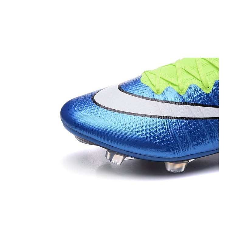 detailed look bed88 d2b08 Chaussures Pas Cher Nike Mercurial Superfly FG - Bleu Blanc