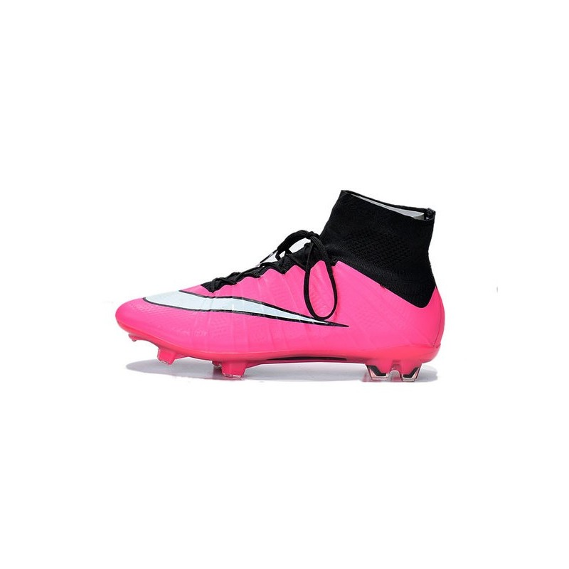 on sale 88609 74704 2015 Chaussures de Football Nike Mercurial Superfly FG - Noir Blanc Rose