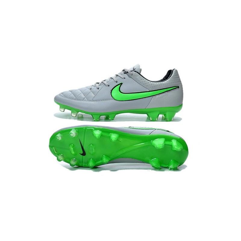 sports shoes c3311 06863 Chaussure de Football Nike Tiempo Legend FG - Gris Loup Vert
