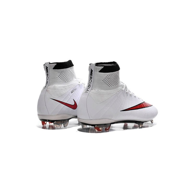 nouveau crampons foot nike mercurial superfly fg blanc. Black Bedroom Furniture Sets. Home Design Ideas