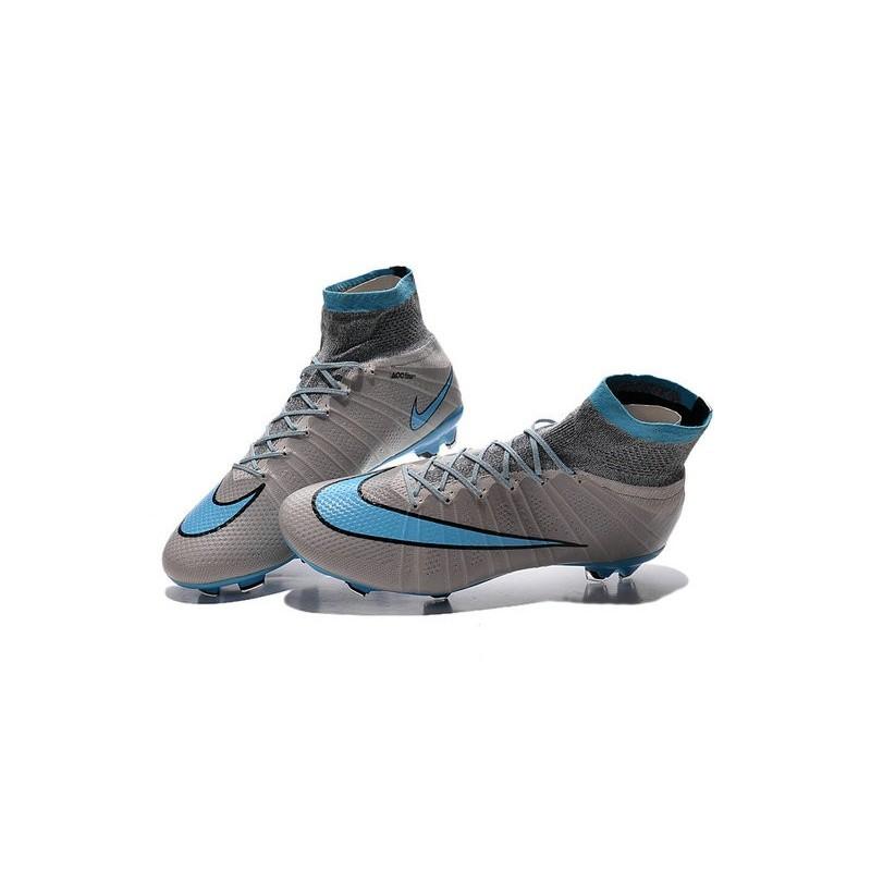 Bleu Nike Superfly Chaussures Mercurial Fg Hommes Gris Noir w66Yqd