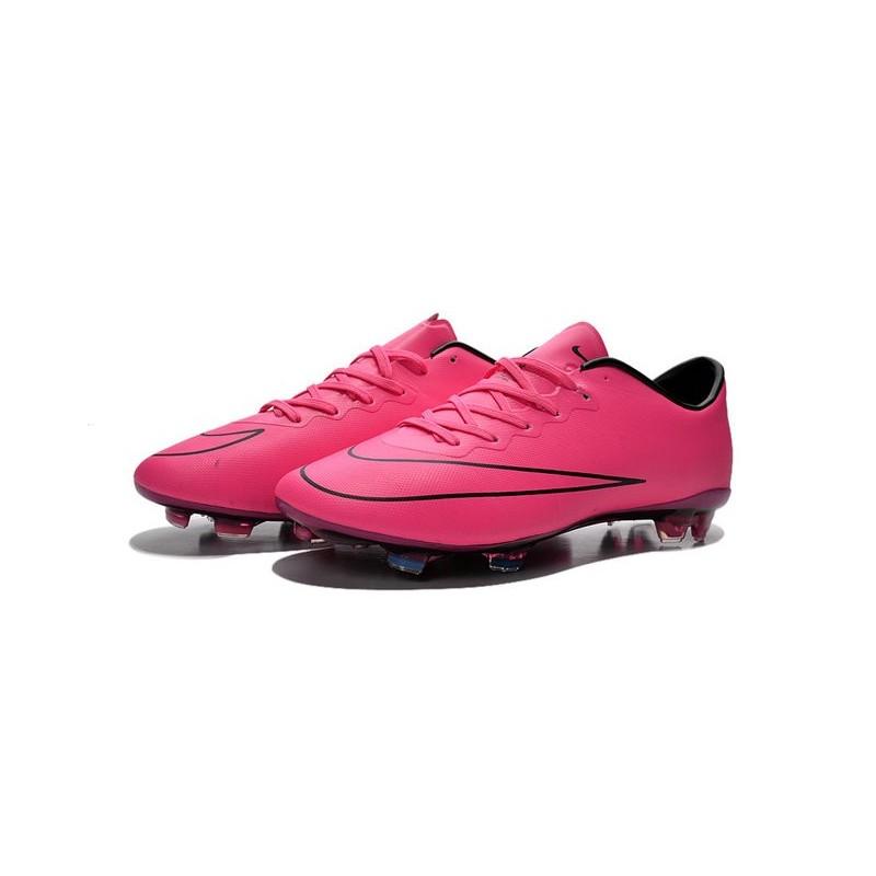 fe21207d82d Nike Mercurial Vapor X FG Terrain Sec - Chaussures De Foot - Hyper Rose Noir