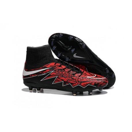 Hommes Chaussures Nike HyperVenom Phantom 2 FG Robert Lewandowski Rouge Noir Blanc