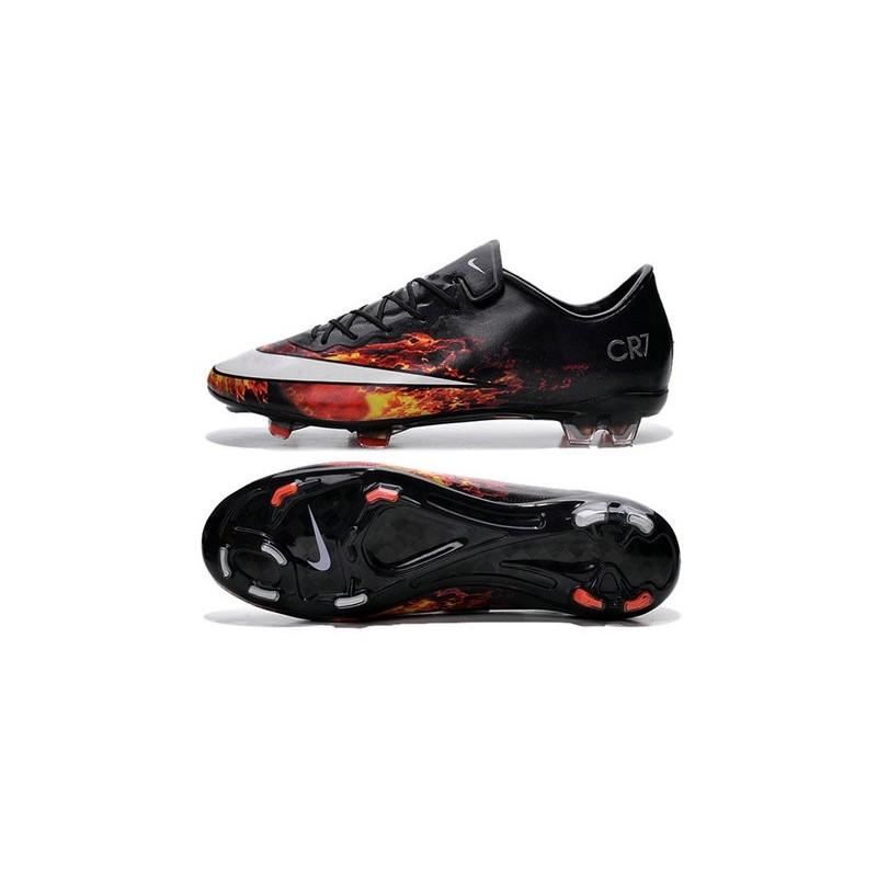 chaussure de football nike mercurial vapor x fg pas cher noir blanc rouge. Black Bedroom Furniture Sets. Home Design Ideas
