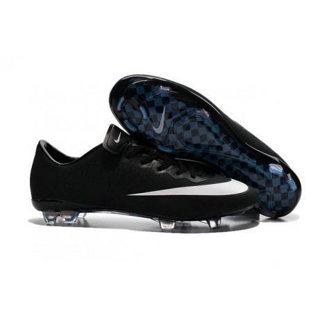 newest 3ac57 48515 Chaussures De Foot Hommes - Nike Mercurial Vapor X FG - Noir Blanc