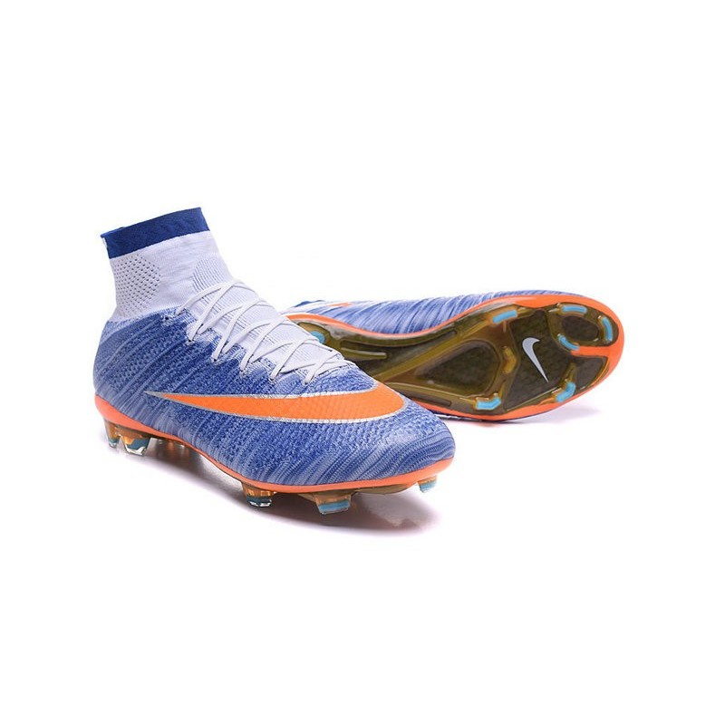 Fg Nike Superfly Hommes Bleu Blanc Chaussures Mercurial Orange mN8n0w