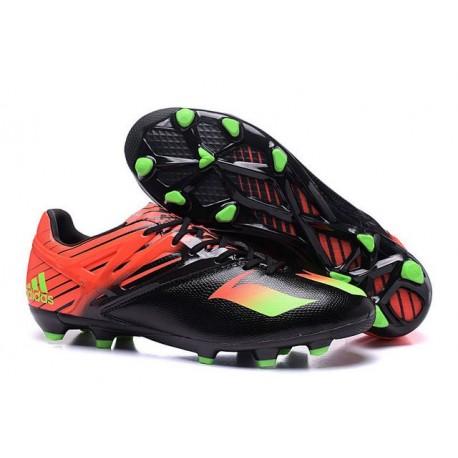 Chaussures foot - Adidas Messi 15.1 FG Noir Vert Rouge