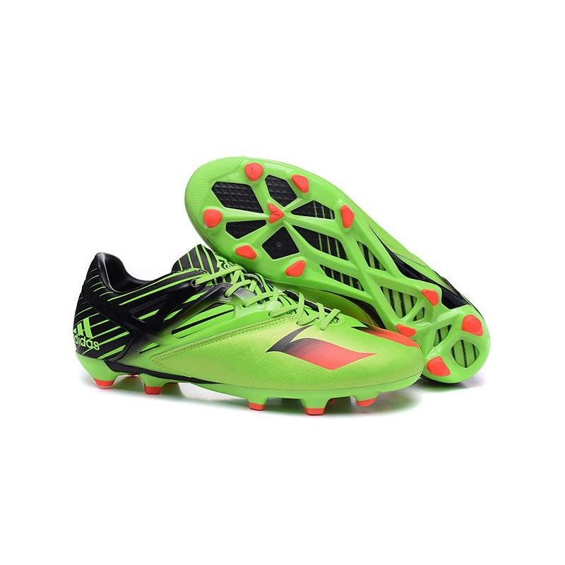 best website 4220f b9bdd Chaussures foot - Adidas Messi 15.1 FG Vert Noir Rouge