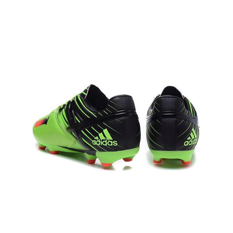 best website d499a 15ba6 Chaussures foot - Adidas Messi 15.1 FG Vert Noir Rouge