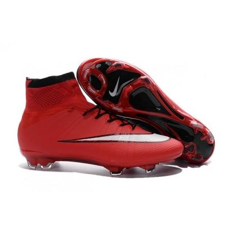 2016 Chaussures de Football Nike Mercurial Superfly FG - Rouge Noir Blanc