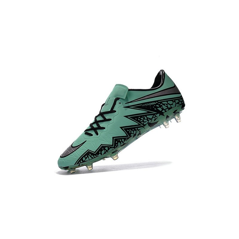 best value 5a597 7dc93 Nike Hypervenom Phinish FG - Terrain Sec - Chaussures De Football - Argenté Noir  Vert