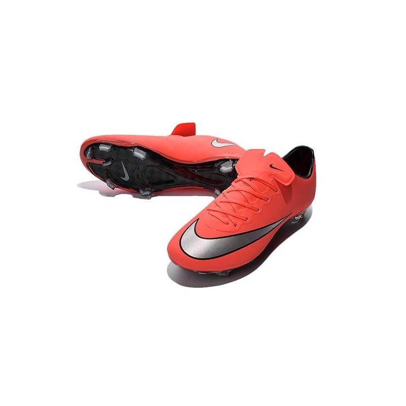 size 40 95027 97038 Chaussure de Football Nike Mercurial Vapor X FG Pas Cher Mangue Argent  Turquoise