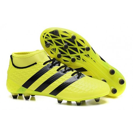 new style 95992 01030 Nouvelles Crampons Foot Adidas Ace16.1 Premiknit FGAG Jaune