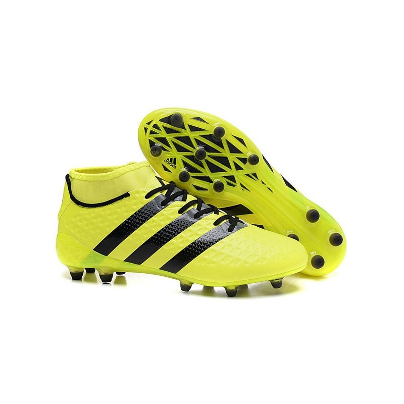 Adidas Nouvelles Rose Ace16 Jaune Fgag Crampons Foot Noir 1
