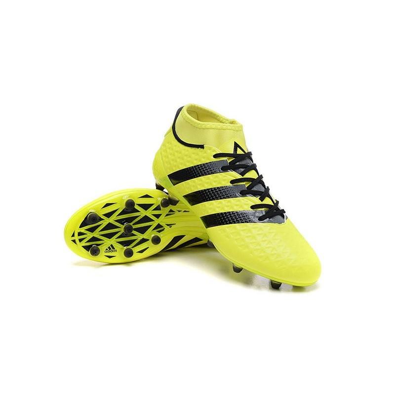 wholesale dealer 47465 0631c Nouvelles Crampons Foot Adidas Ace16.1 Premiknit FGAG Jaune Noir Zoom.  Précédent. Suivant