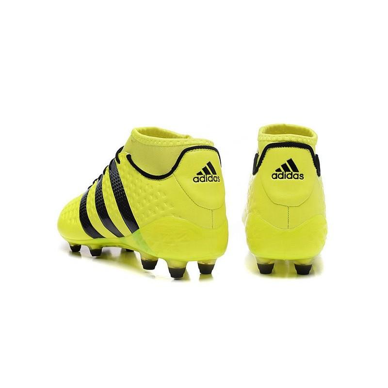 Foot Adidas Premiknit Ace16 Crampons 1 Noir Jaune FGAG Nouvelles aqPZT5