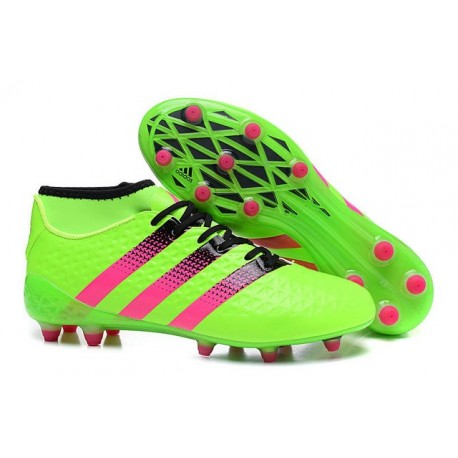 official photos 07c58 75f12 Nouvelles Crampons Foot Adidas Ace16.1 Premiknit FGAG Vert R