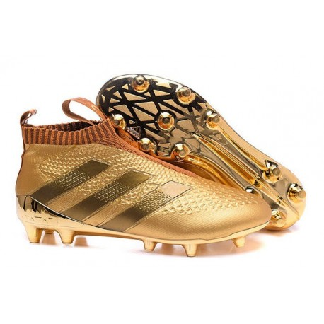 bons plans sur la mode magasin en ligne prix 2016 Crampons Foot Adidas Ace16+ Purecontrol FG/AG Or