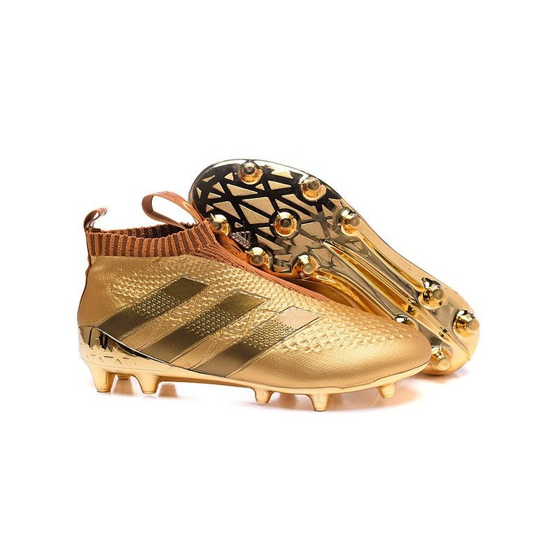 best service 17c80 8cf44 2016 Crampons Foot Adidas Ace16+ Purecontrol FGAG Or