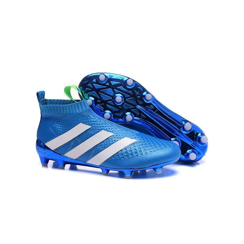 Purecontrol Foot Blanc 2016 Adidas Bleu Crampons Ace16 Fgag q1agygBIw5