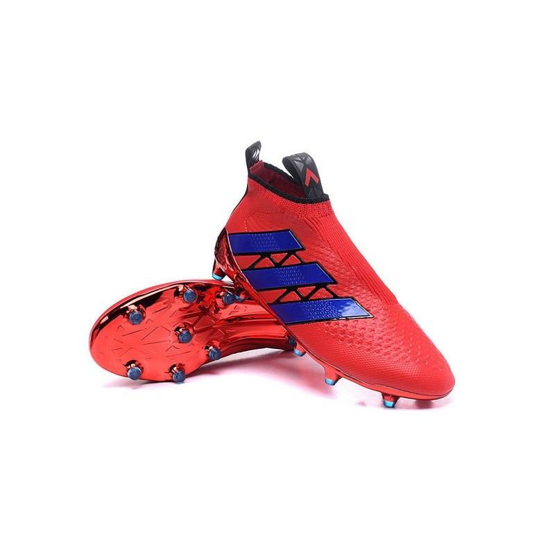 the latest fa812 3955c 2016 Crampons Foot Adidas Ace16+ Purecontrol FGAG Rouge Bleu Zoom.  Précédent. Suivant