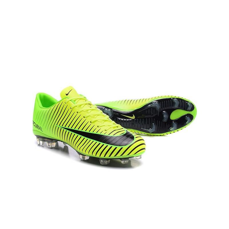 design de qualité 7b7fd 180ed Crampons 2016- Nike Mercurial Vapor 11 FG Vert Noir