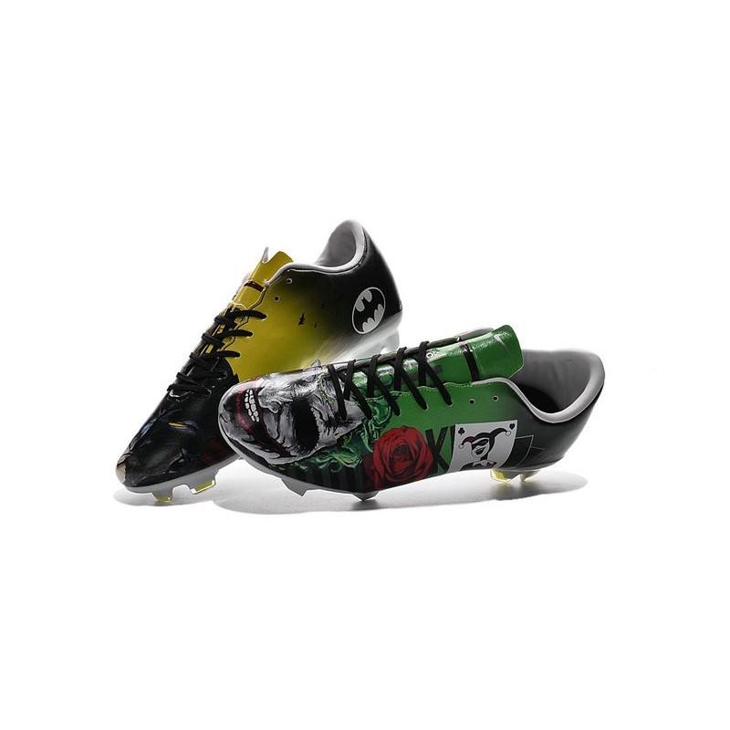 save off eca5a 407ca Nouvelles Crampons Nike Mercurial Vapor 10 FG Batman & Clown Vert Rouge Jaune  Noir