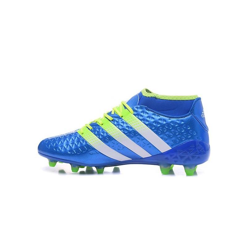 finest selection 86366 e261d Adidas Bleu Crampons Ace16 1 Premiknit Fgag Blanc Foot Nouvelles Vert wRxFZx