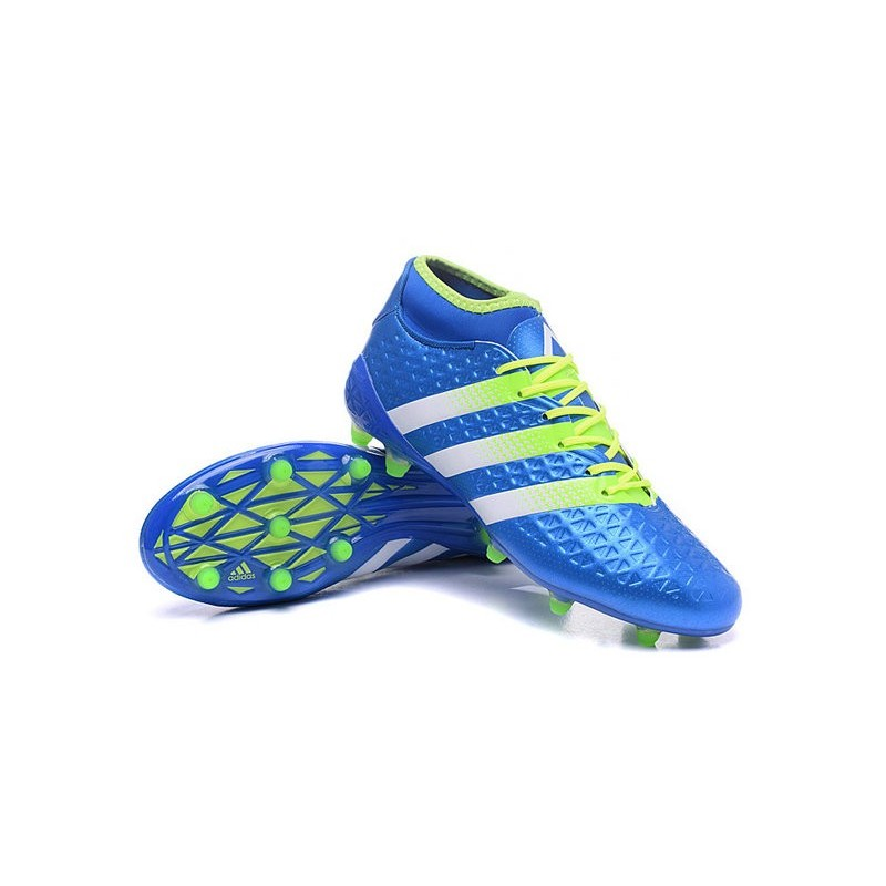 watch f2bb3 8f097 Nouvelles Crampons Foot Adidas Ace16.1 Premiknit FGAG Bleu V