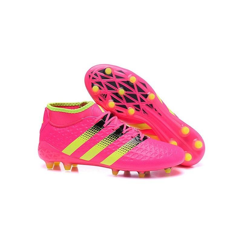 brand new fb4eb c1046 Nouvelles Crampons Foot Adidas Ace16.1 Premiknit FG AG Rose Noir Jaune  Zoom. Précédent. Suivant
