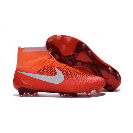 Chaussures Football Magista Obra FG - Terrain Sec - Orange Blanc