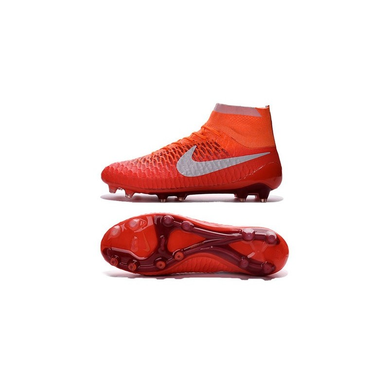 new styles 90ece 933d7 Chaussures Football Magista Obra FG - Terrain Sec - Orange Blanc