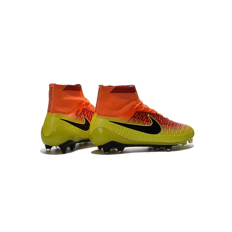huge discount 8c1f1 c1bf8 2016 Chaussures Football Magista Obra FG Pas Cher Carmin Noi